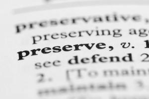 preserve dictionary def